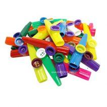 assorted plastic kazoos