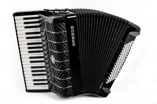 Hohner Mattia IV 96 Black Piano Accordion